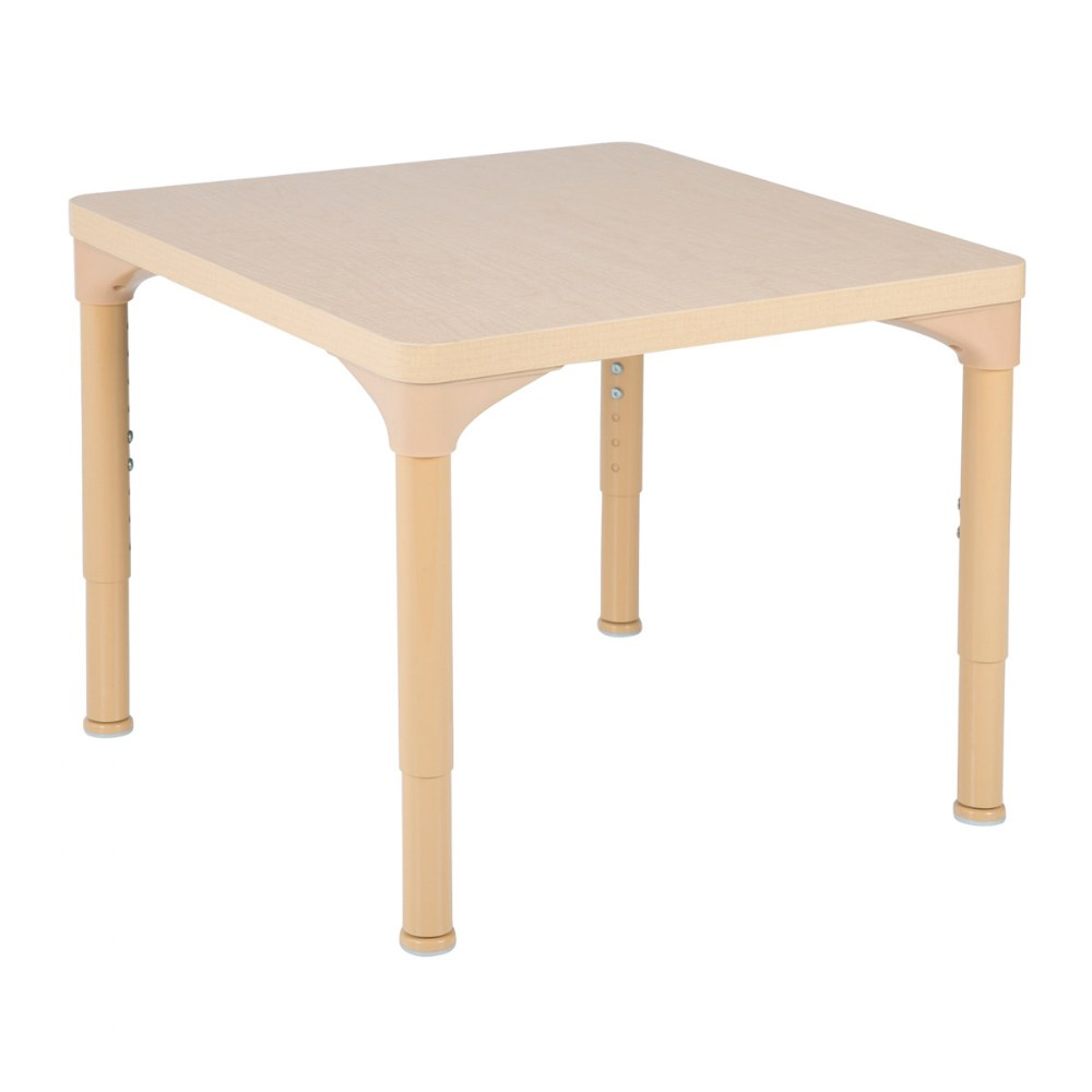 "24"" x 24"" Laminate Adjustable Square Table - Seats 4"