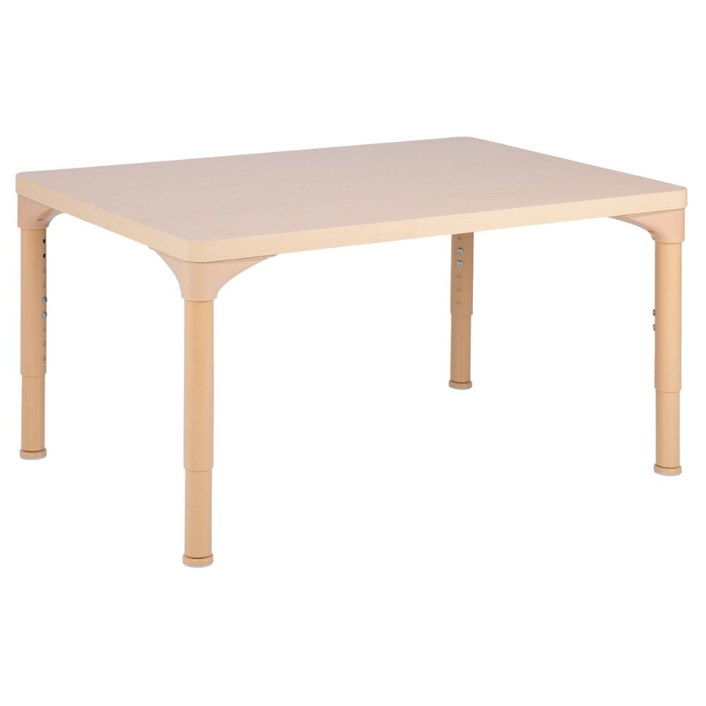 "24"" x 36"" Laminate Adjustable Rectangle Table - Seats 4"