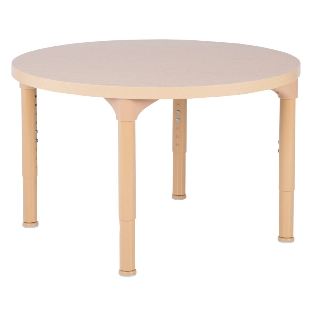 "30"" Laminate Adjustable Round Table - Seats 4"