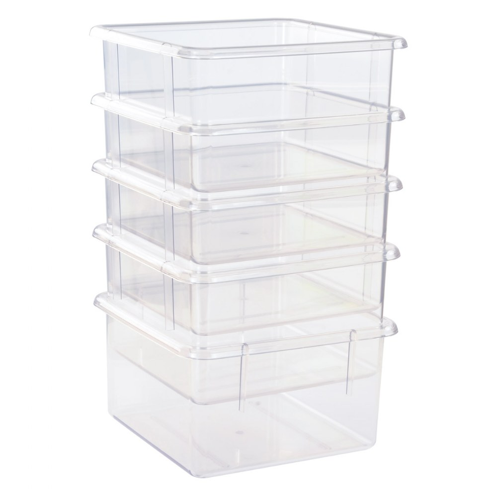 Alternate Image #1 of 5 Clear Bins for 10-Cubby Wall Locker