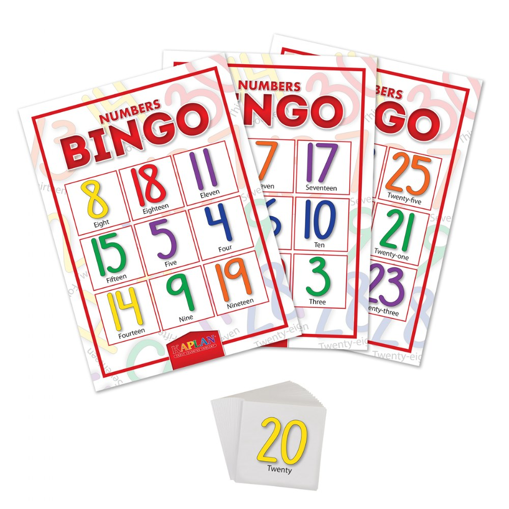 Alternate Image #1 of Numbers Bingo Cards Math Recognition & Learning Game For Kids