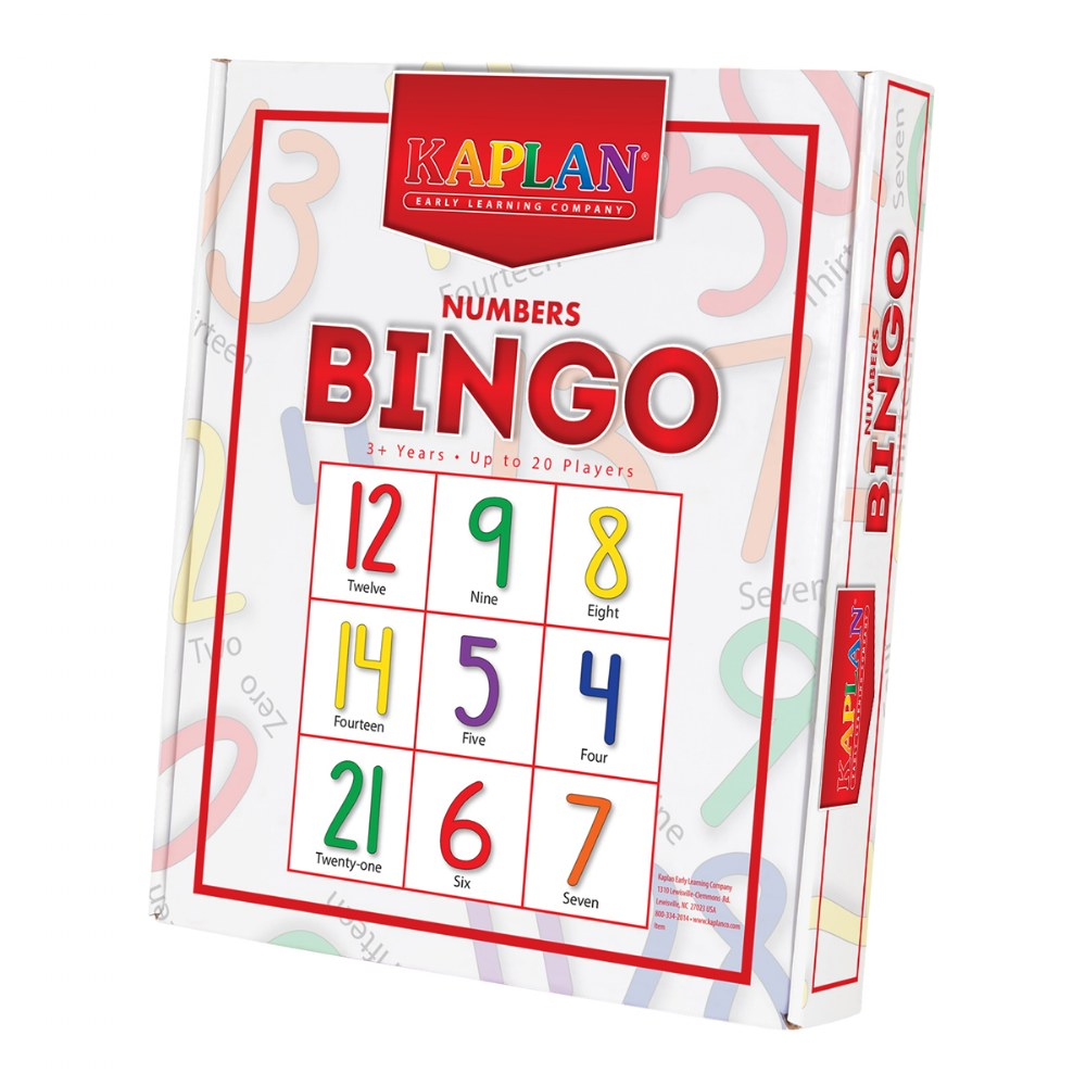Alternate Image #2 of Numbers Bingo Cards Math Recognition & Learning Game For Kids