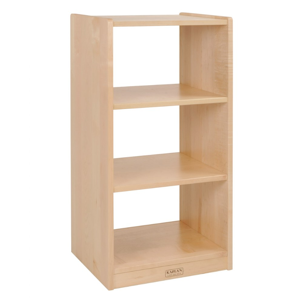 "36"" Narrow Three-Shelf Maple Storage with Acrylic Back"