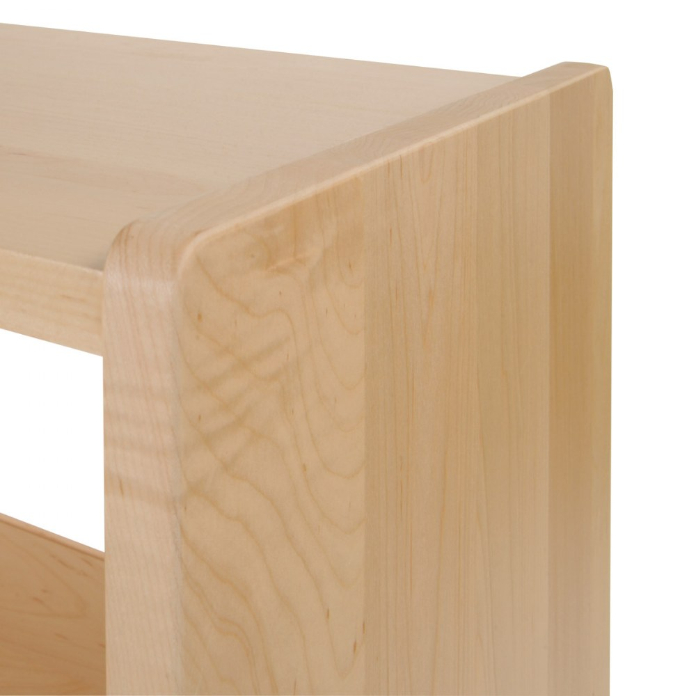 "Alternate Image #2 of 36"" Narrow Three-Shelf Maple Storage with Acrylic Back"