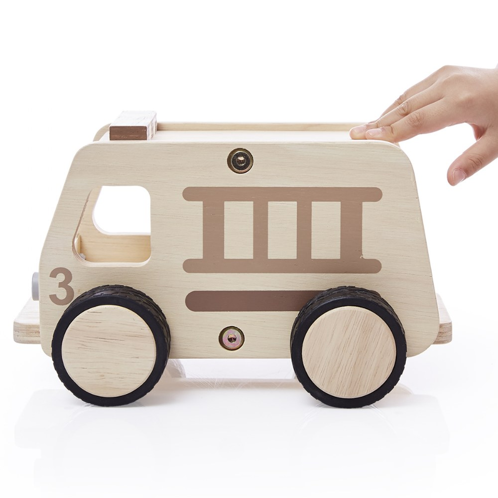 Alternate Image #1 of Wooden Fire Truck