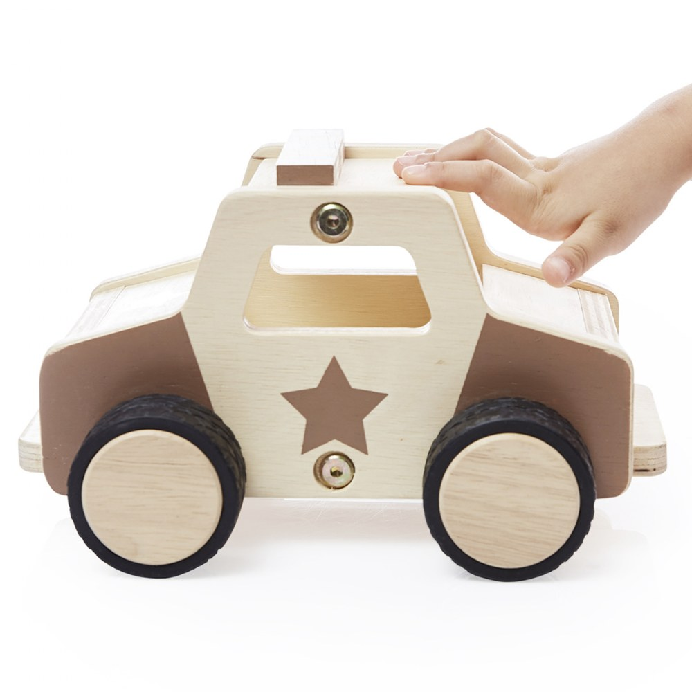 Alternate Image #1 of Wooden Police Car