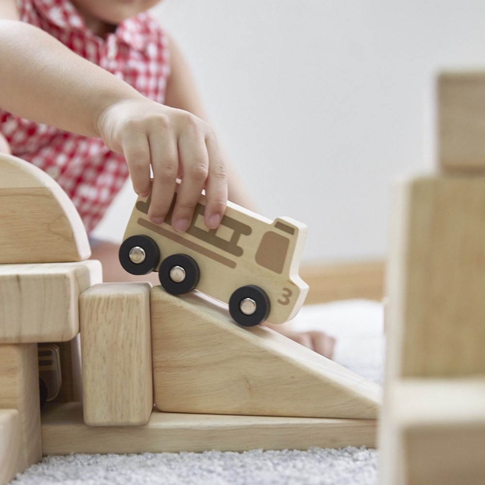 Alternate Image #5 of Mini Wooden Trucks - Set of 10