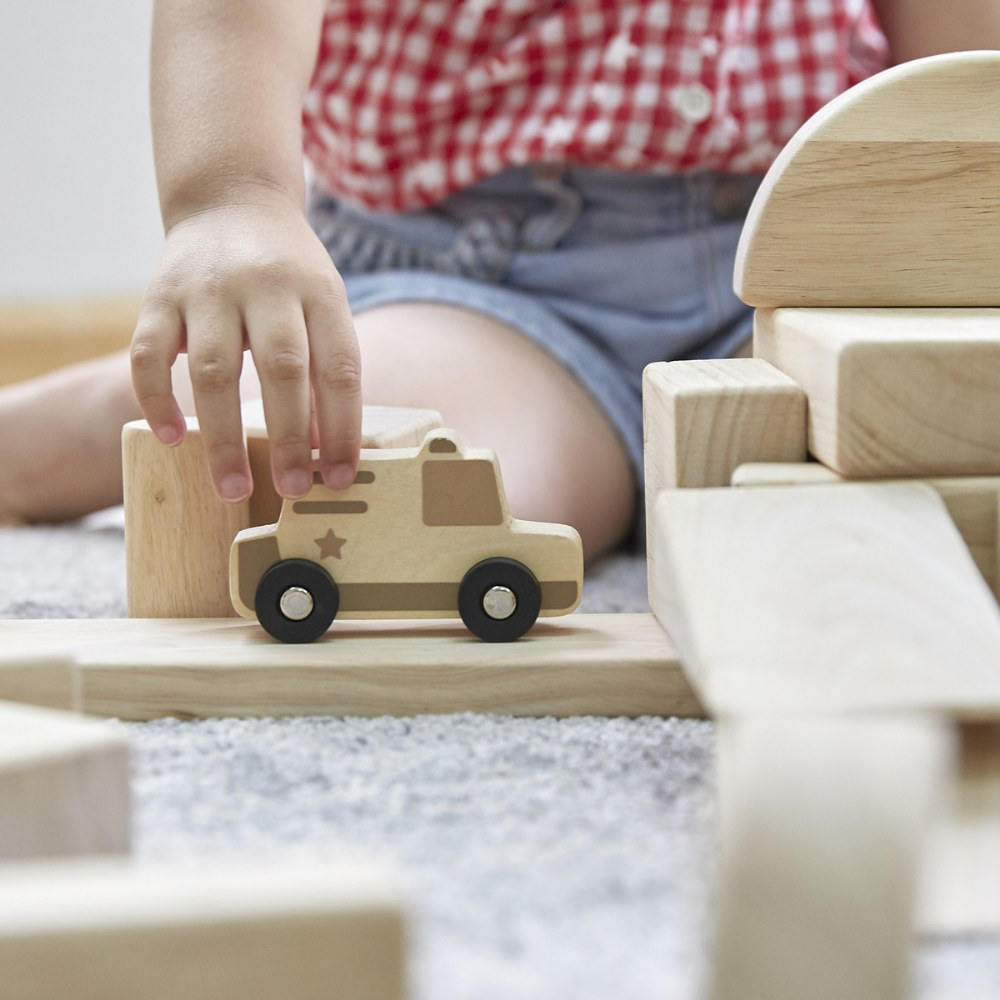 Alternate Image #6 of Mini Wooden Trucks - Set of 10
