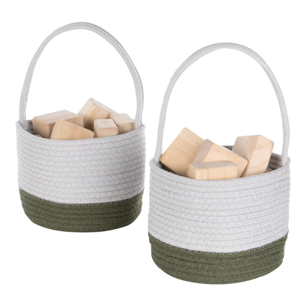 Alternate Image #1 of Woven Block Baskets - Set of 2