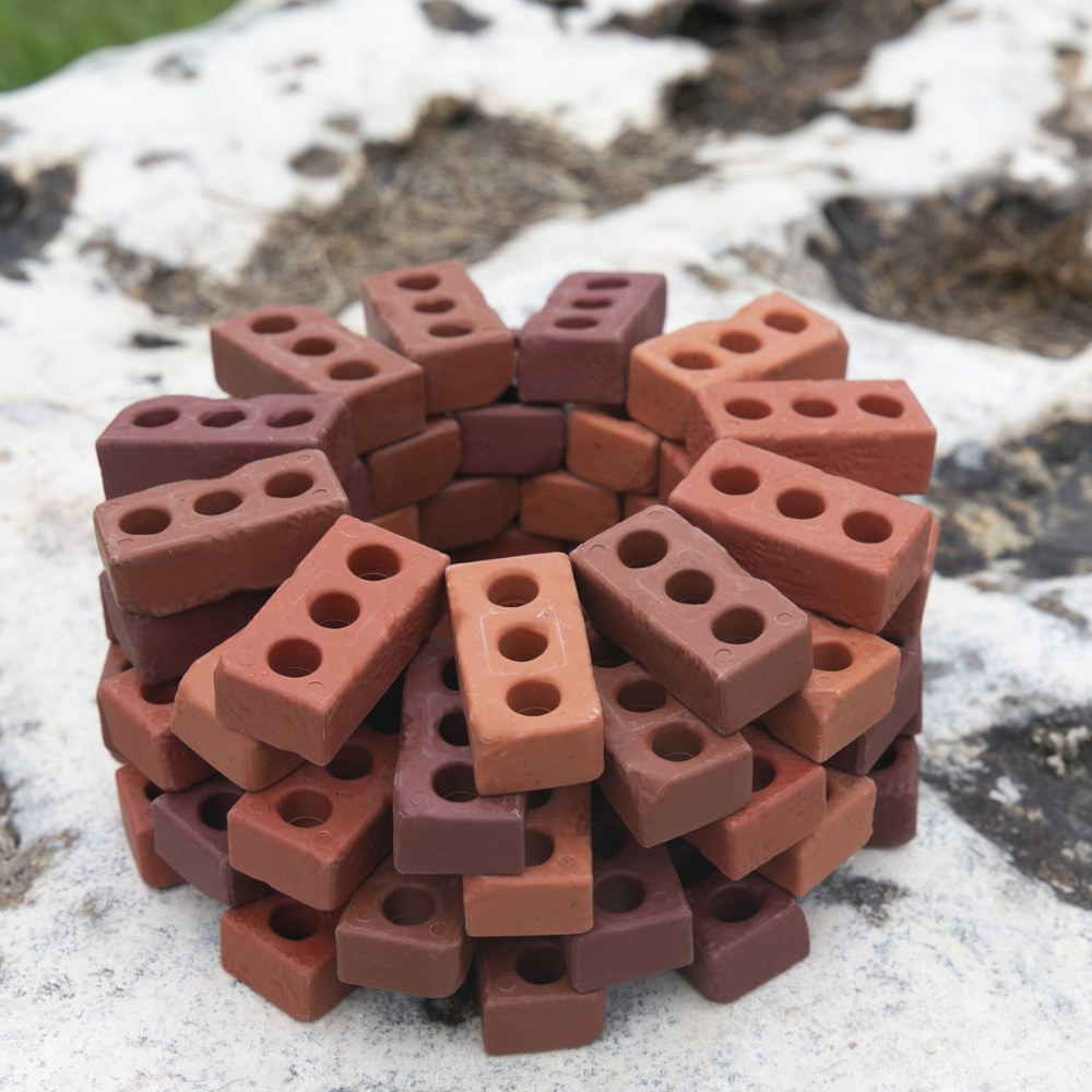 Alternate Image #1 of Little Bricks Builders Set for Construction and Stacking with Concept Cards - 60 Piece Set