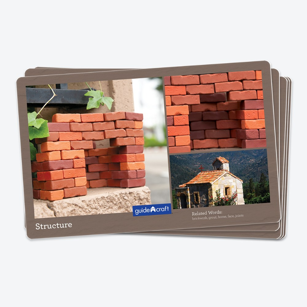 Alternate Image #5 of Little Bricks Builders Set for Construction and Stacking with Concept Cards - 60 Piece Set