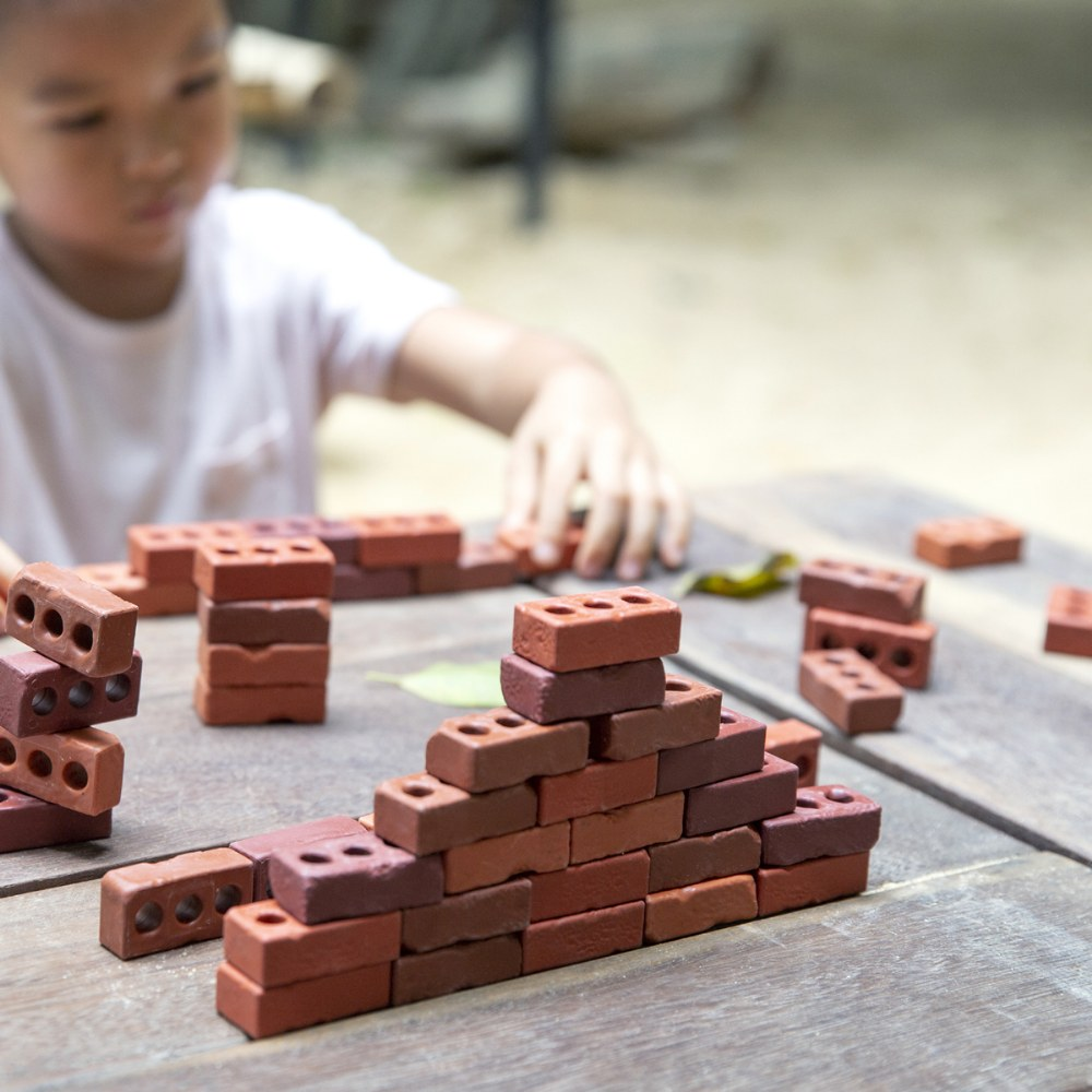 Alternate Image #8 of Little Bricks Builders Set for Construction and Stacking with Concept Cards - 60 Piece Set