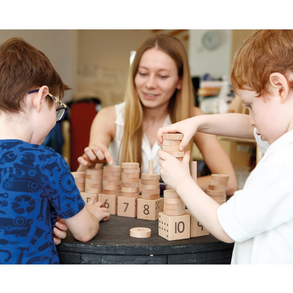Alternate Image #2 of 1 - 10 Number Stacker - Count and Learn Through Fun and Play