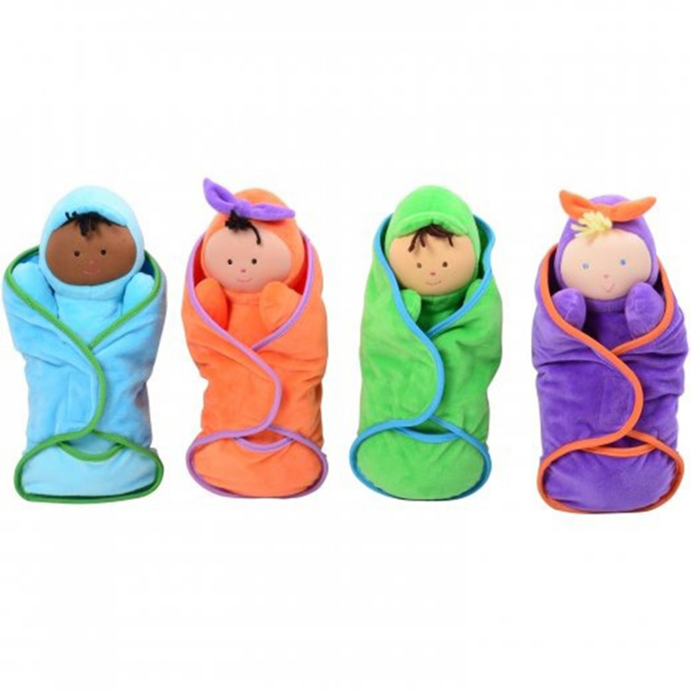 Soft Swaddle Babies - Set of 4