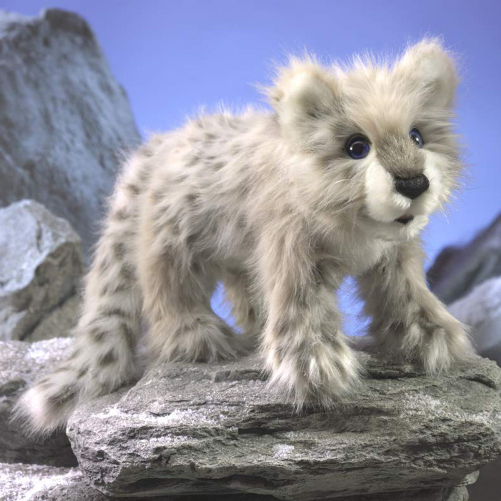 Alternate Image #2 of Snow Leopard Cub Hand Puppet