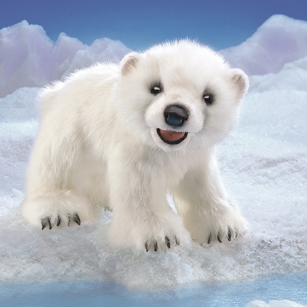 Alternate Image #1 of Polar Bear Hand Puppet