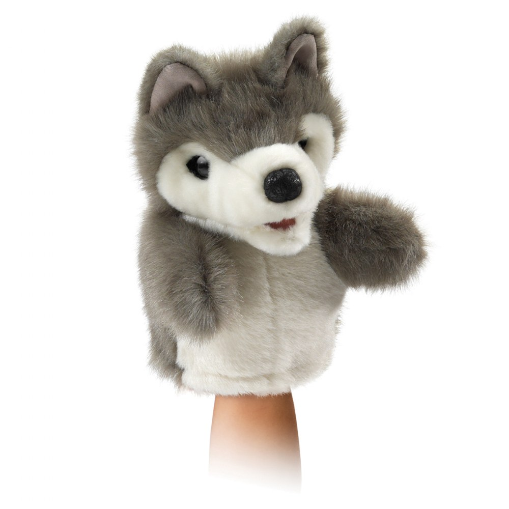 Alternate Image #1 of Little Wolf Hand Puppet