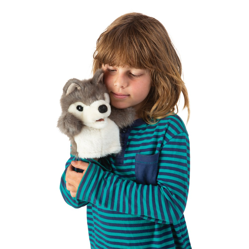 Alternate Image #2 of Little Wolf Hand Puppet