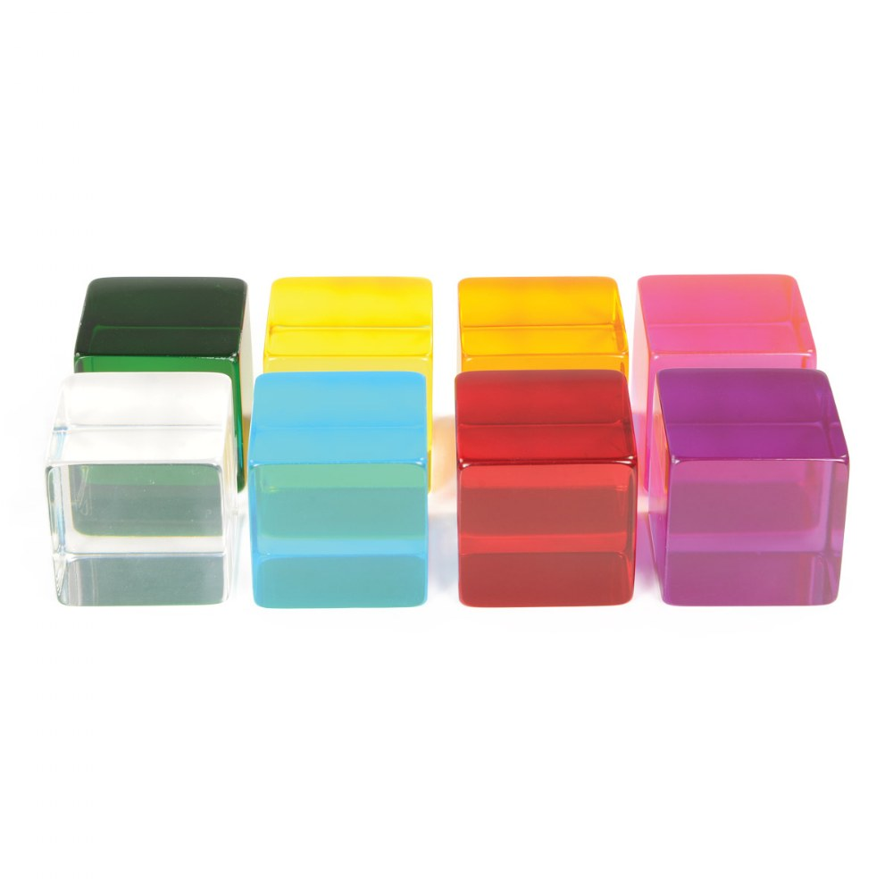 Alternate Image #1 of Sensory Perception Cubes in Translucent Cubes - Set of 8