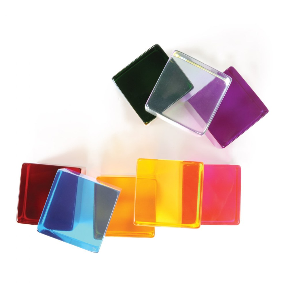 Alternate Image #2 of Sensory Perception Cubes in Translucent Cubes - Set of 8