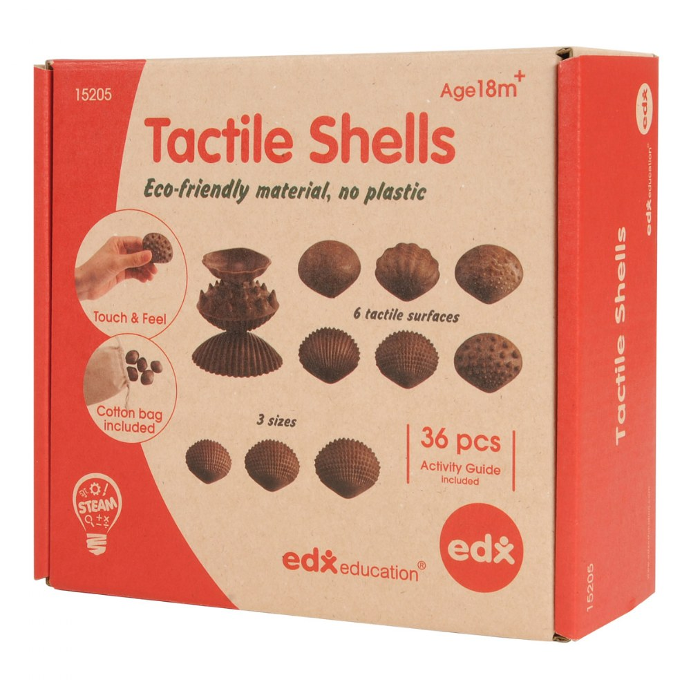 Alternate Image #4 of Tactile Shells - Set of 36