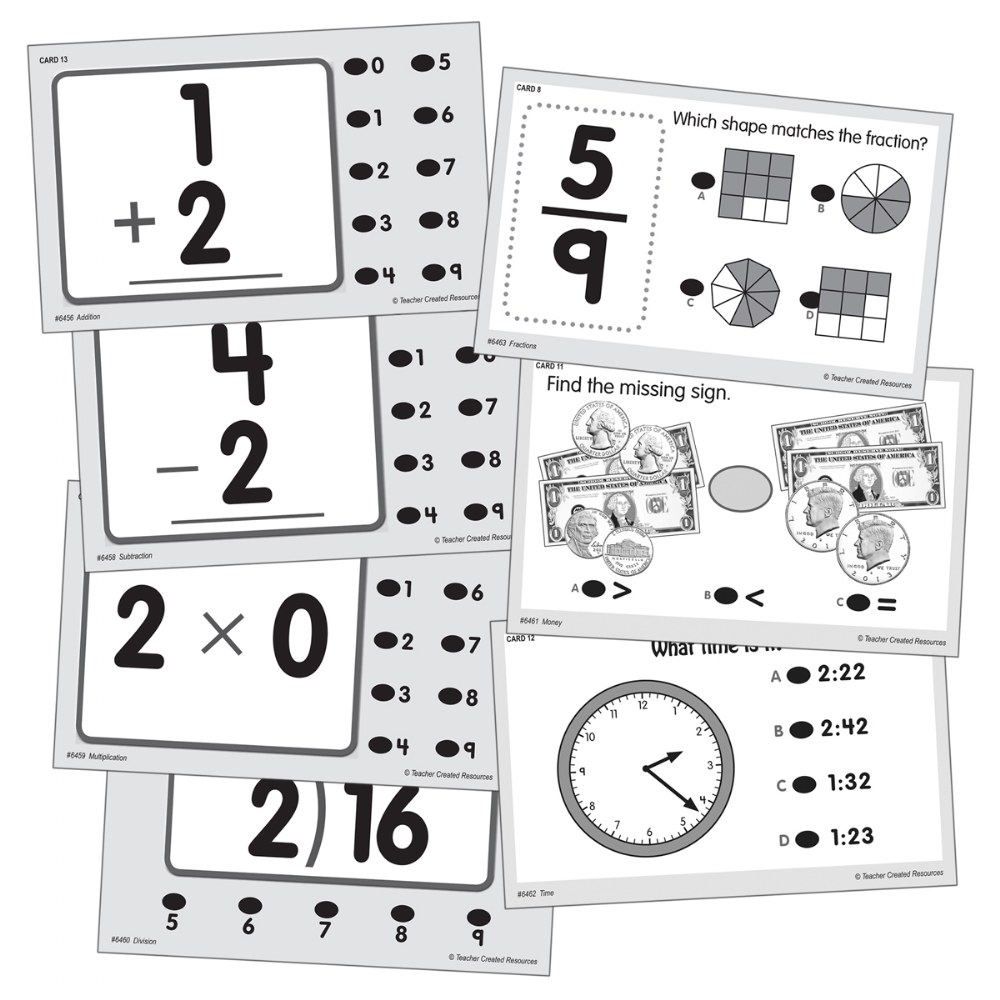 Alternate Image #18 of Math Quiz Card Set - Set of 7