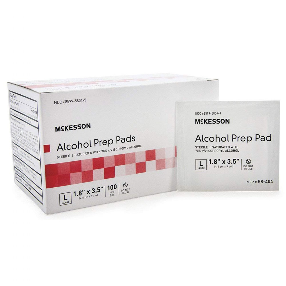 Alcohol Prep Wipes - Individual Packets of 100