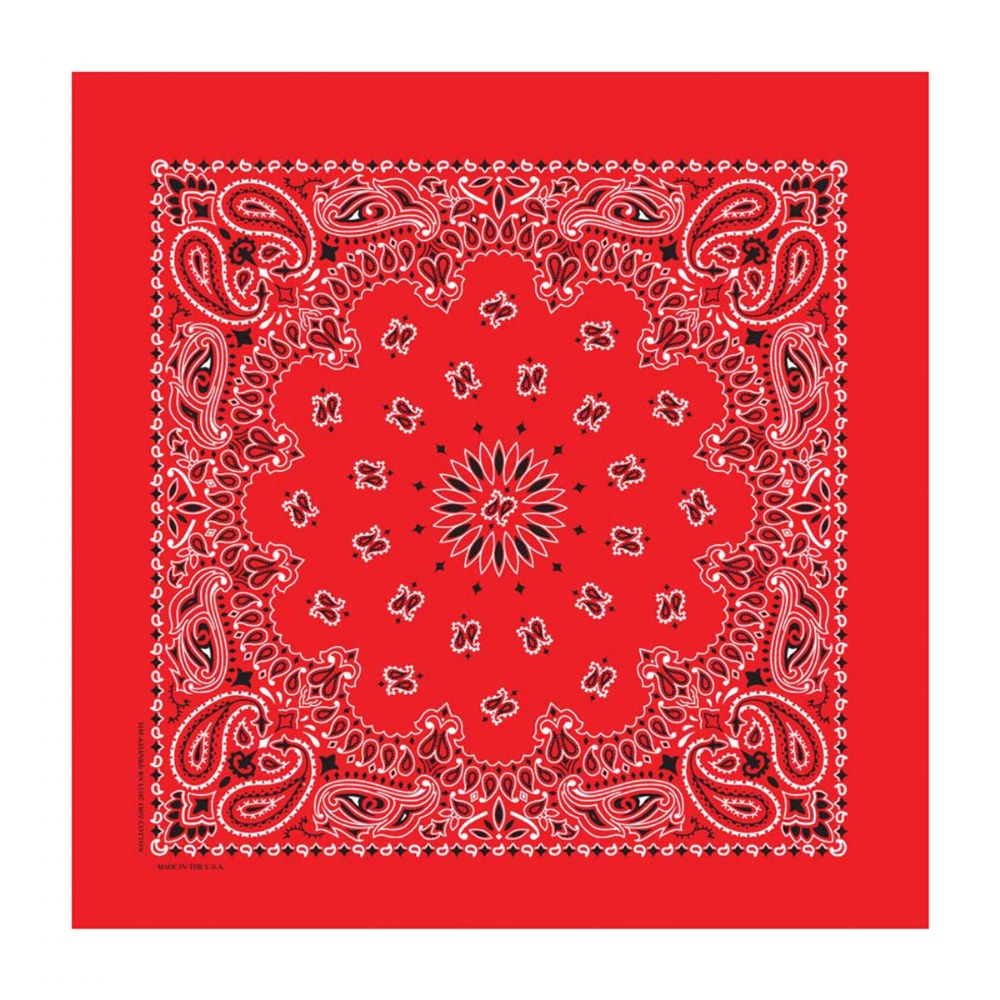 Alternate Image #1 of Red Bandana - Set of 10