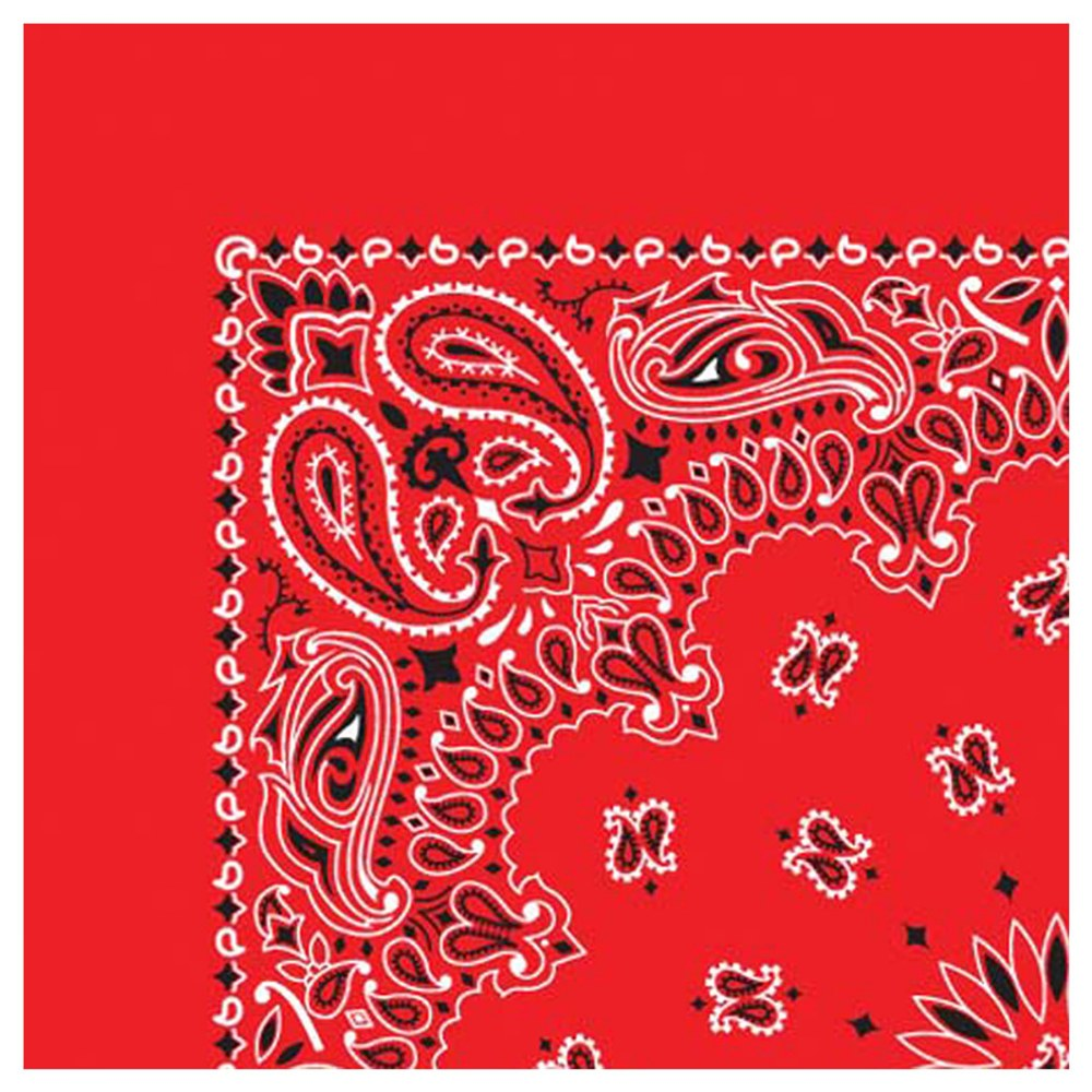Alternate Image #2 of Red Bandana - Set of 10