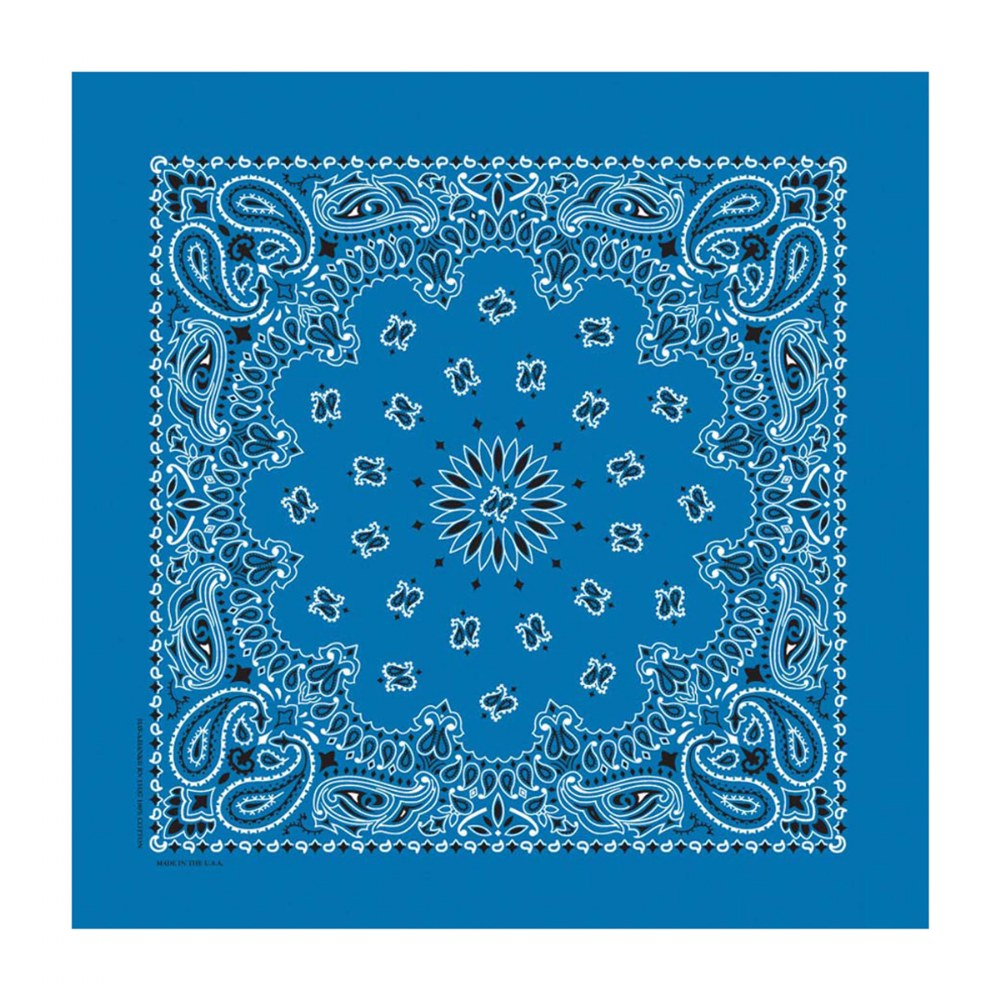 Alternate Image #1 of Blue Bandana - Set of 10