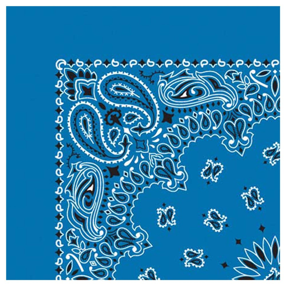 Alternate Image #2 of Blue Bandana - Set of 10