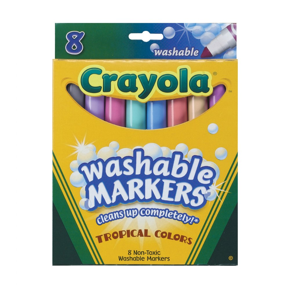 Alternate Image #1 of Crayola® Washable Markers - 8 Count & 12 Count Markers - Sets of 10