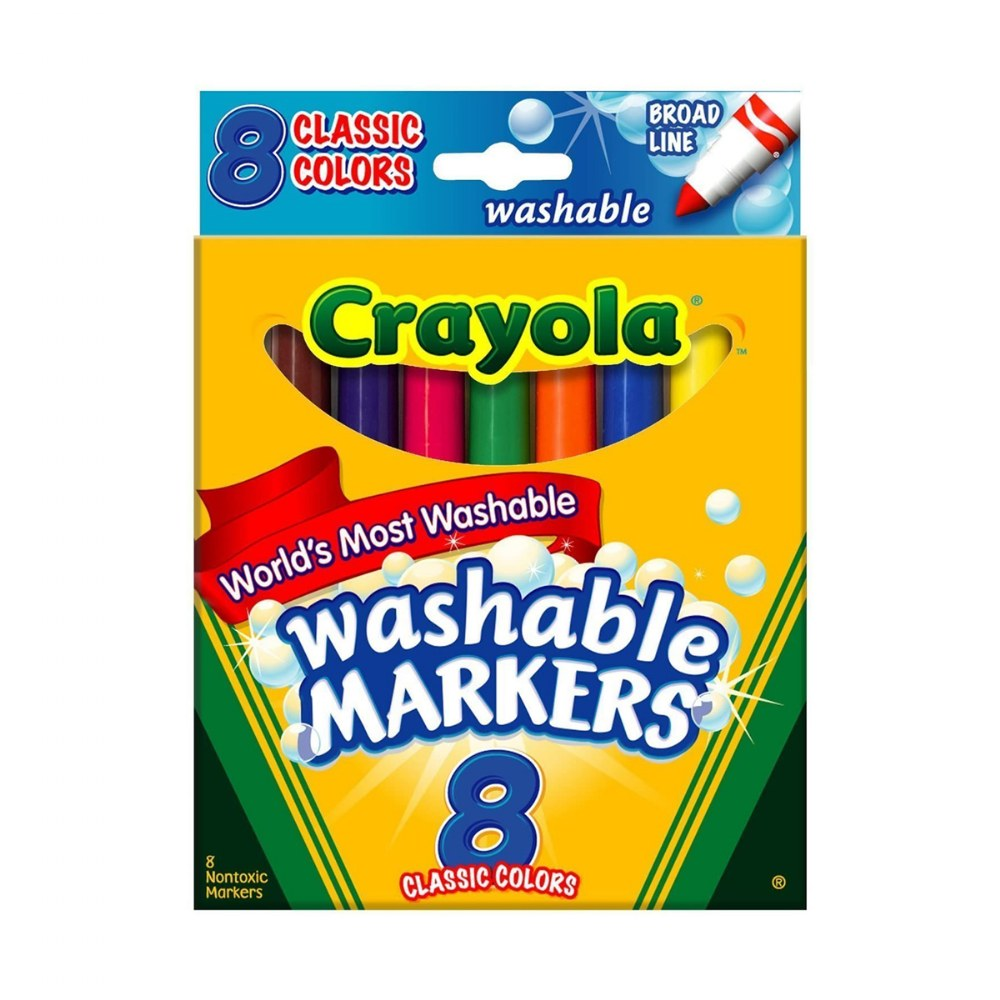 Alternate Image #3 of Crayola® Washable Markers - 8 Count & 12 Count Markers - Sets of 10