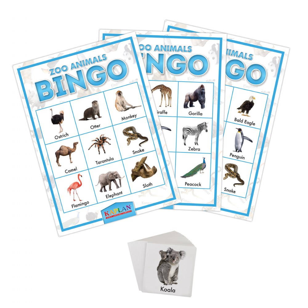 Alternate Image #1 of Kaplan Zoo Animals Bingo Learning Game