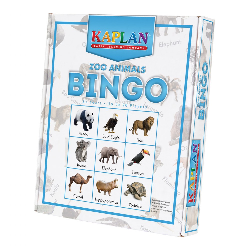 Alternate Image #2 of Kaplan Zoo Animals Bingo Learning Game