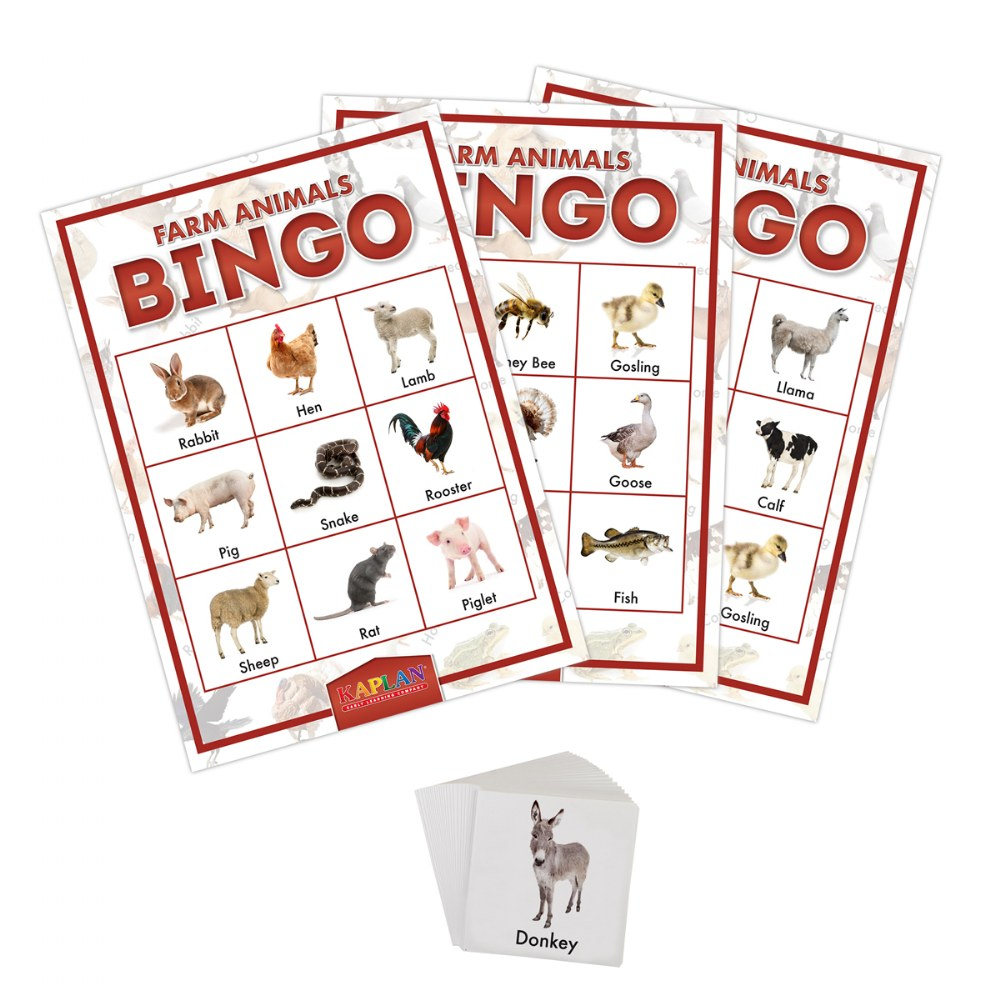 Alternate Image #1 of Kaplan Farm Animals Bingo Learning Game