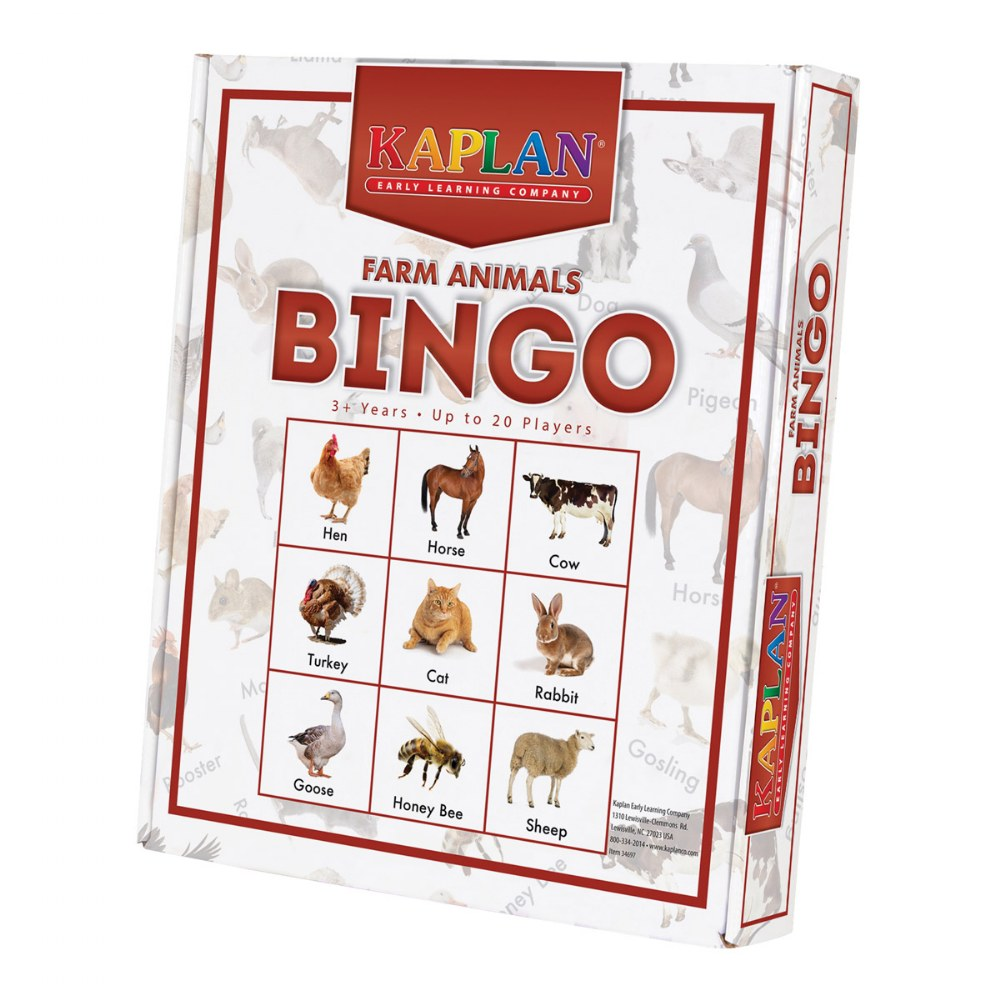 Alternate Image #2 of Kaplan Farm Animals Bingo Learning Game