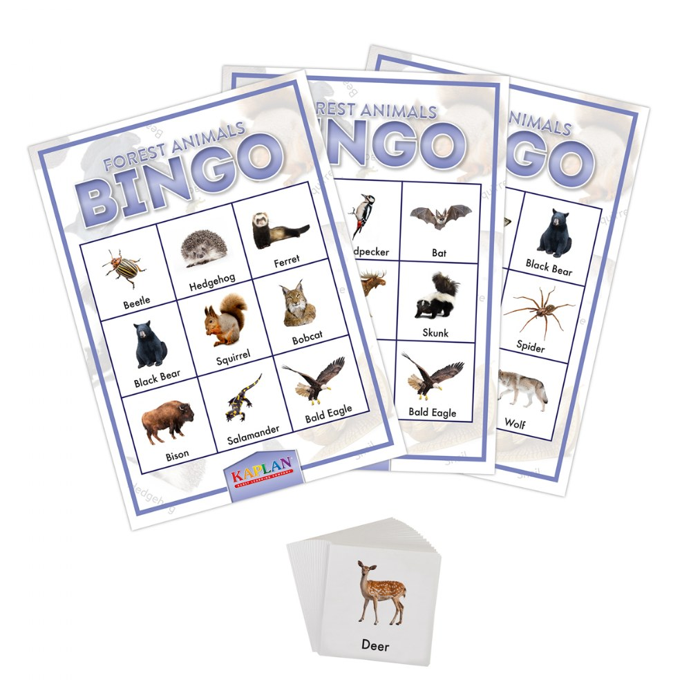 Alternate Image #1 of Kaplan Forest Animals Bingo Learning Game