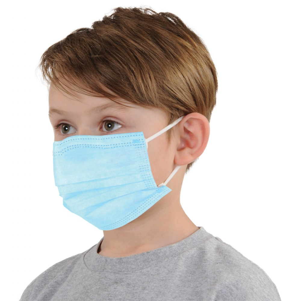 Alternate Image #2 of Child-Size Disposable Face Masks - Box of 50