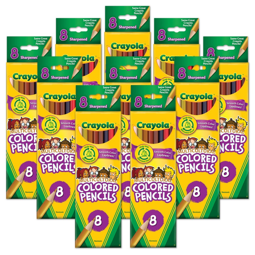 Crayola® Multicultural Pencils 8 Count - Set of 10