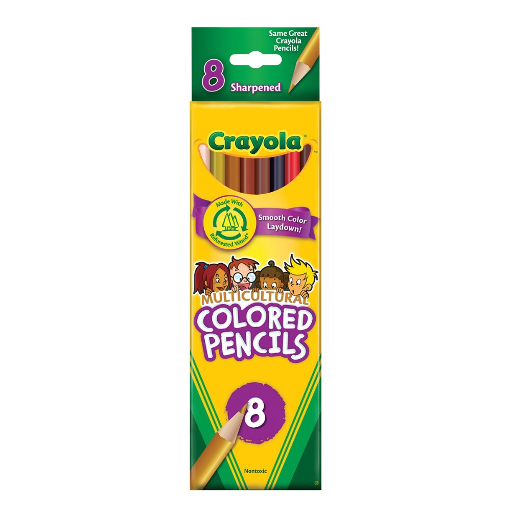 Alternate Image #1 of Crayola® Multicultural Pencils 8 Count - Set of 10