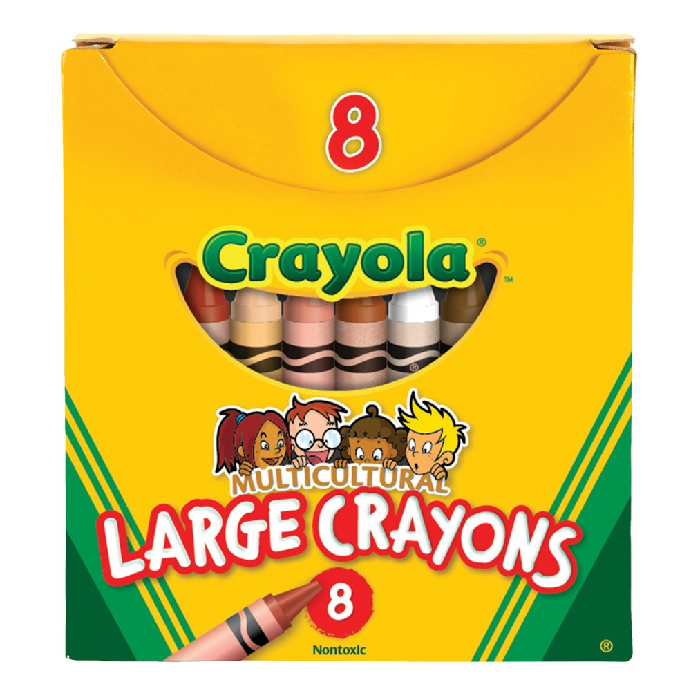 Alternate Image #1 of Crayola®Multicultural Crayons 8 Count - Large - Set of 10