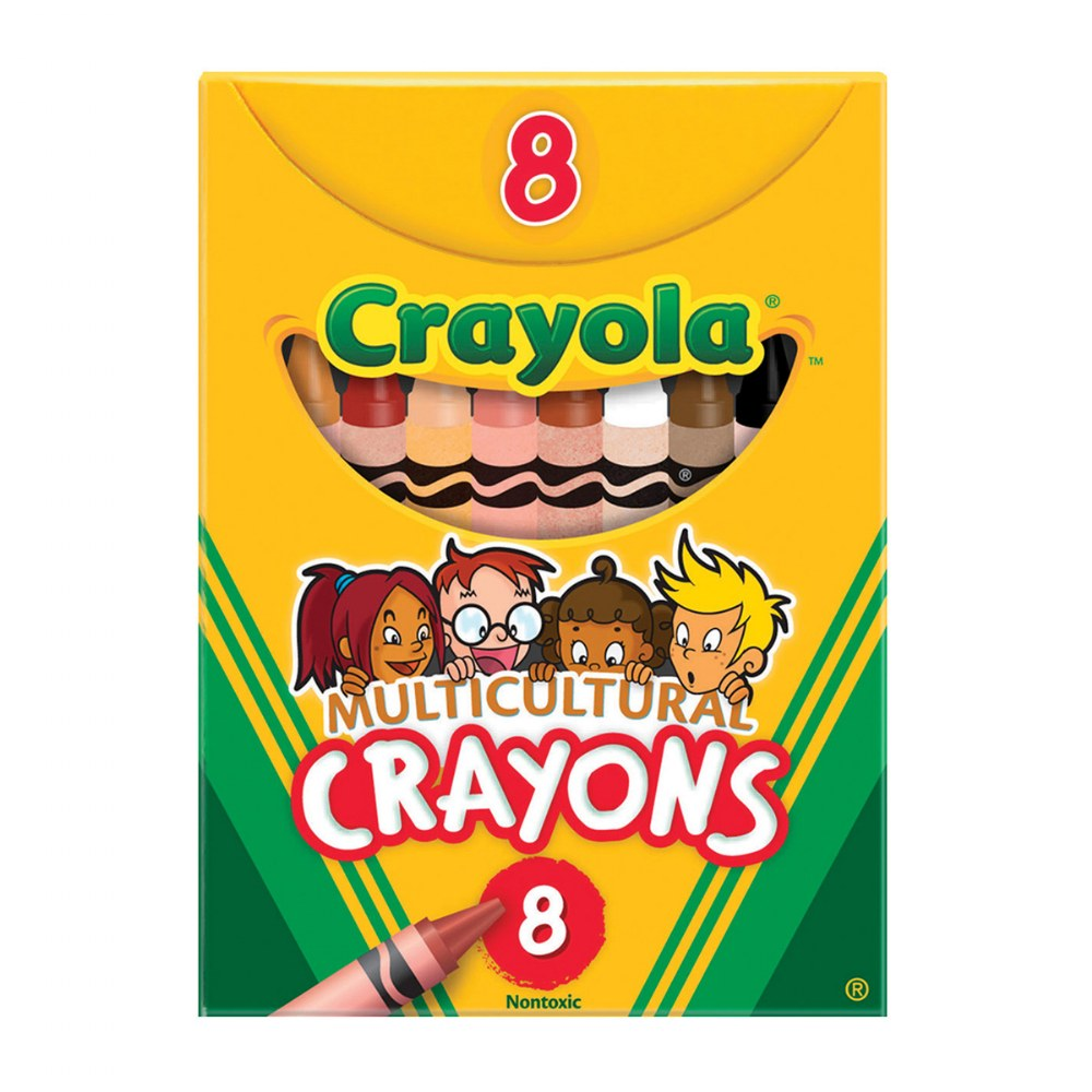 Alternate Image #1 of Crayola®Multicultural Crayons 8 Count - Standard - Set of 10