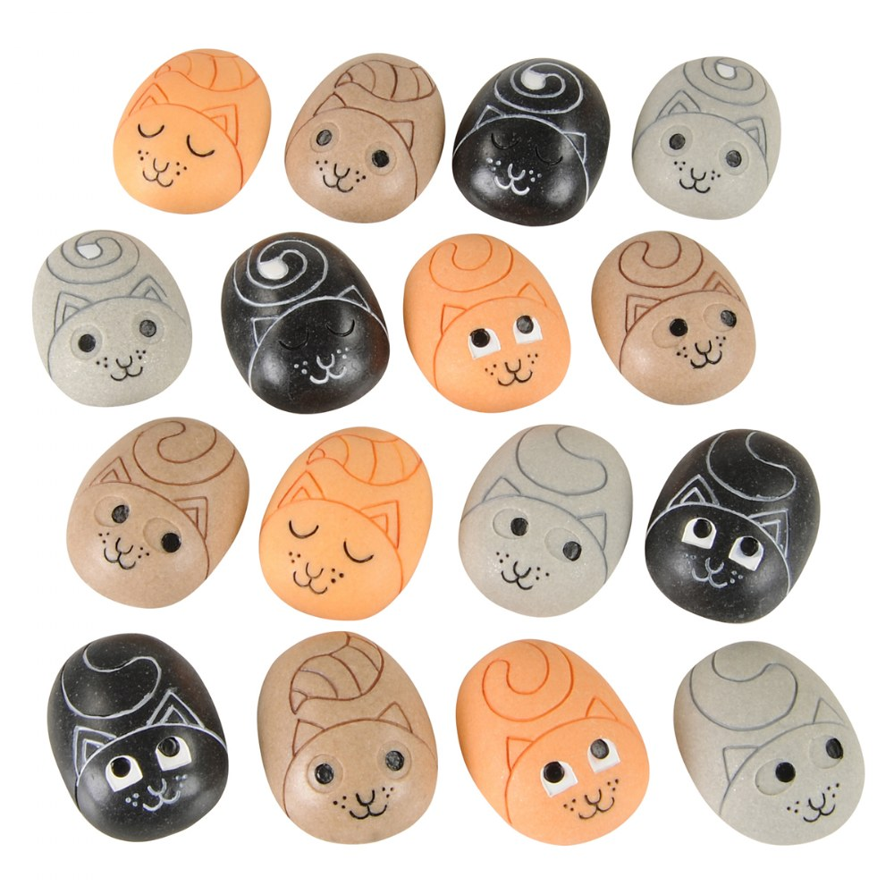 Categories Attribute Stones To Match and Sort - Set of 16