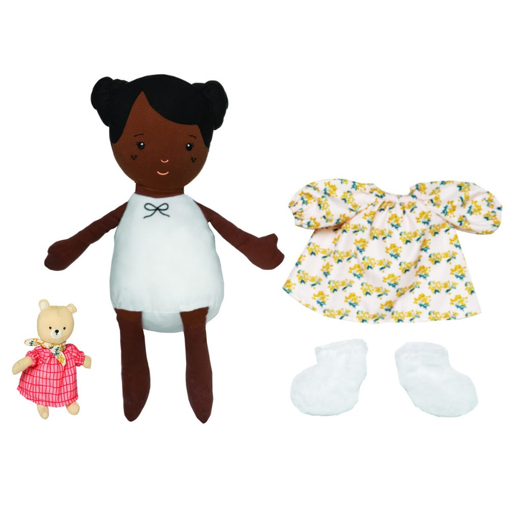 "Alternate Image #7 of Cuddly Playdate Friends Washable 14"" Soft Dolls"