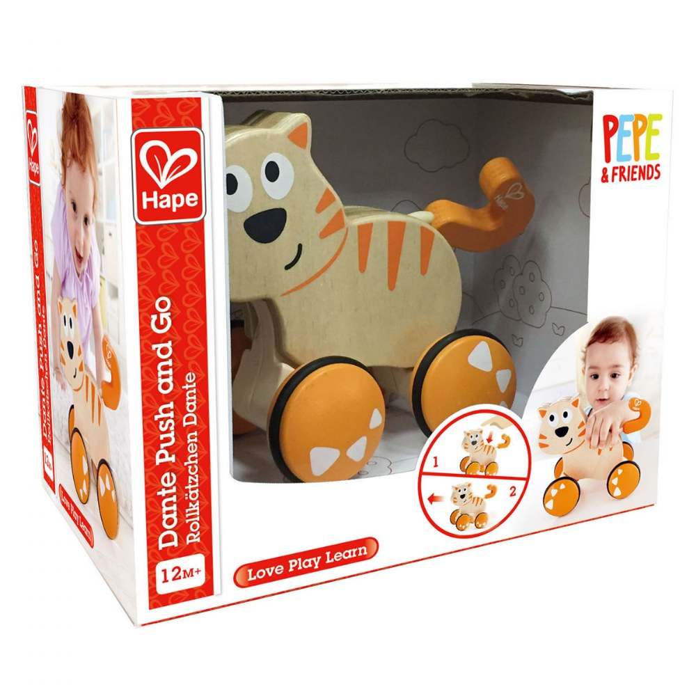 Alternate Image #2 of Wooden Toddler Wobble Kitten Push & Go
