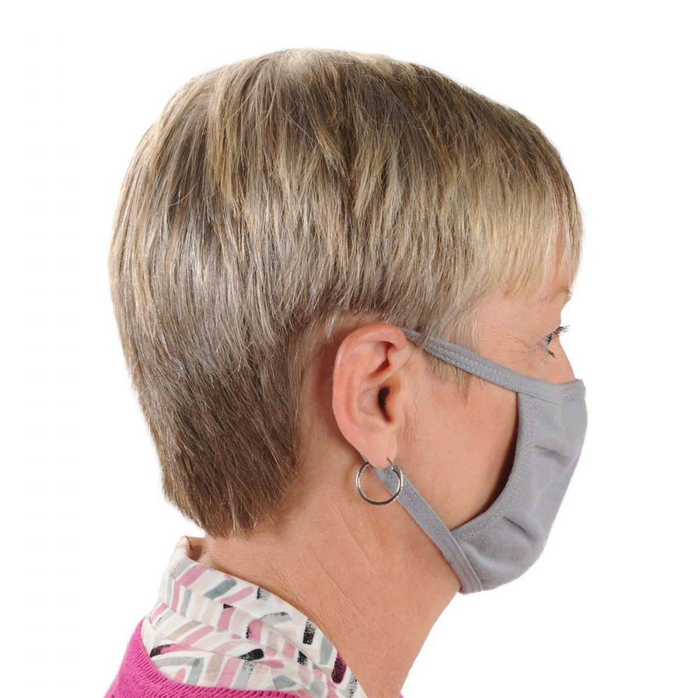 Alternate Image #3 of Washable Adult-Sized Cloth Masks - Gray - Set of 50