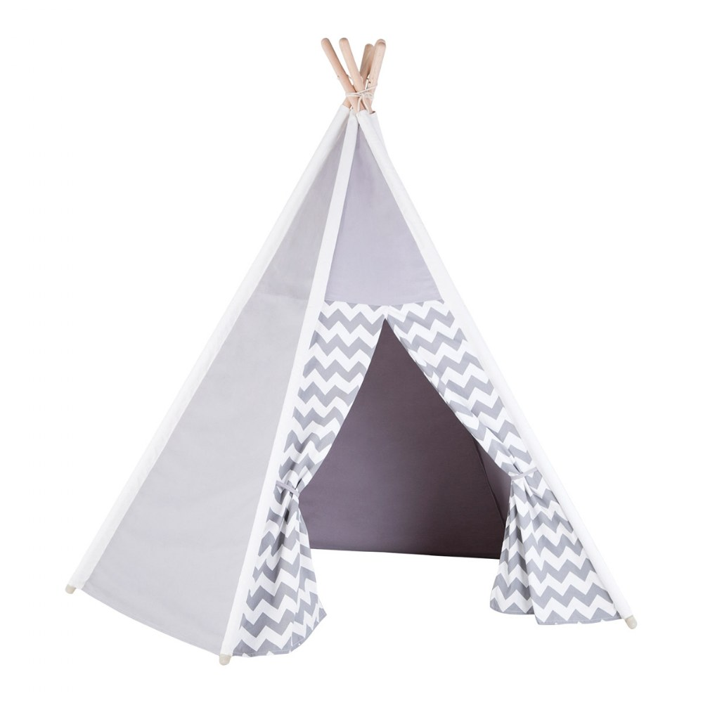Alternate Image #1 of Easy View Foldable Gray and White Canvas Tent