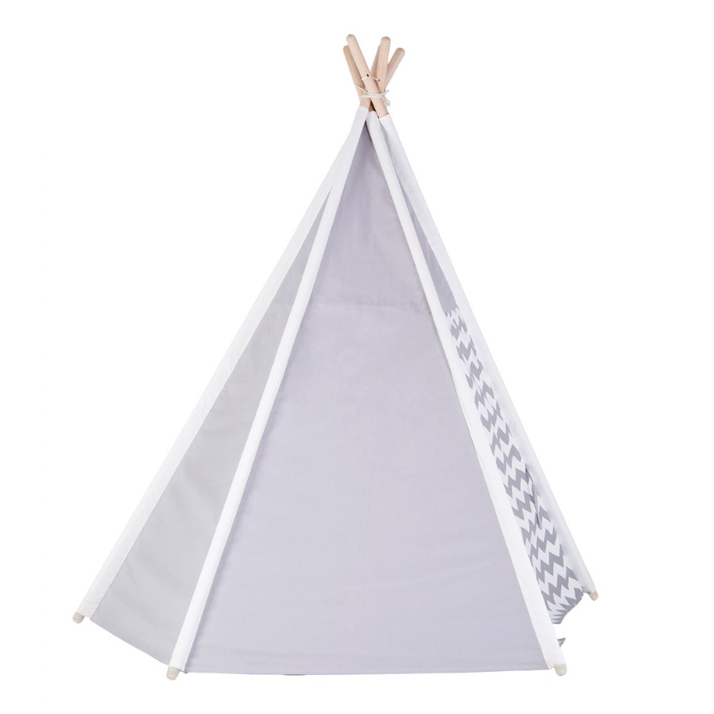 Alternate Image #2 of Easy View Foldable Gray and White Canvas Tent