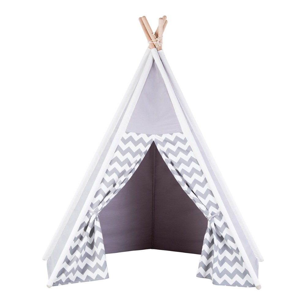 Alternate Image #3 of Easy View Foldable Gray and White Canvas Tent